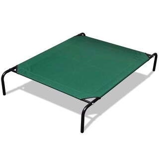 """vidaXL Elevated Pet Bed with Steel Frame 3' 7"""" x 2' 7"""""""