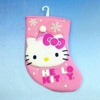 Hello Kitty 7.5 Miniature Applique Stocking""