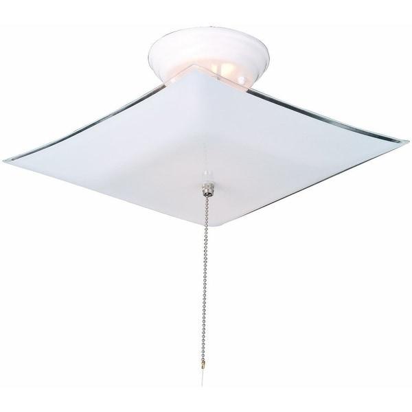 Design House 517805 Square Ceiling Mount Light, White