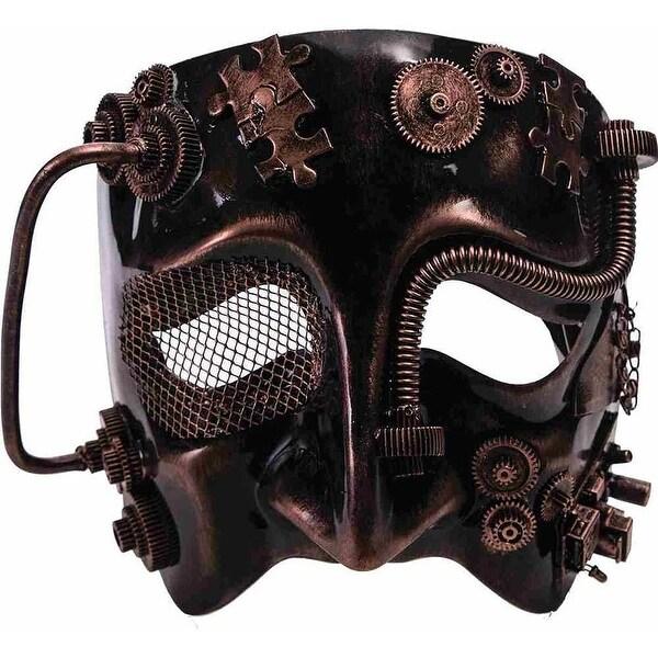 Steampunk Costume Mask Bronze Adult