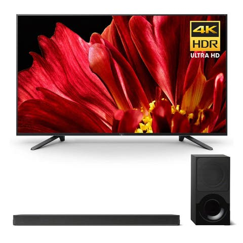 """Sony XBR-75Z9F 75"""" MASTER Series BRAVIA 4K HDR UHD TV and HT-X9000F 2.1-Channel Dolby Atmos Sound Bar with Subwoofer - Black"""