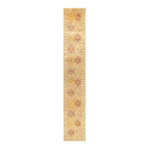 """Mogul, One-of-a-Kind Hand-Knotted Runner - Ivory, 2' 7"""" x 16' 10"""" - 2' 7"""" x 16' 10"""""""