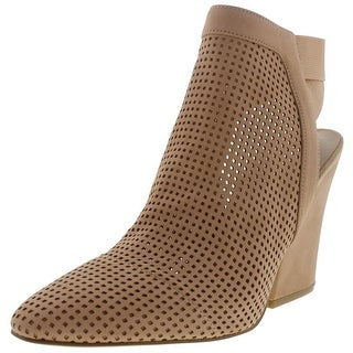 Guess Womens Norine Leather Perforated Booties