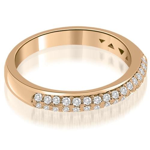 0.35 cttw. 14K Rose Gold Elegant Round Cut Diamond Wedding Ring