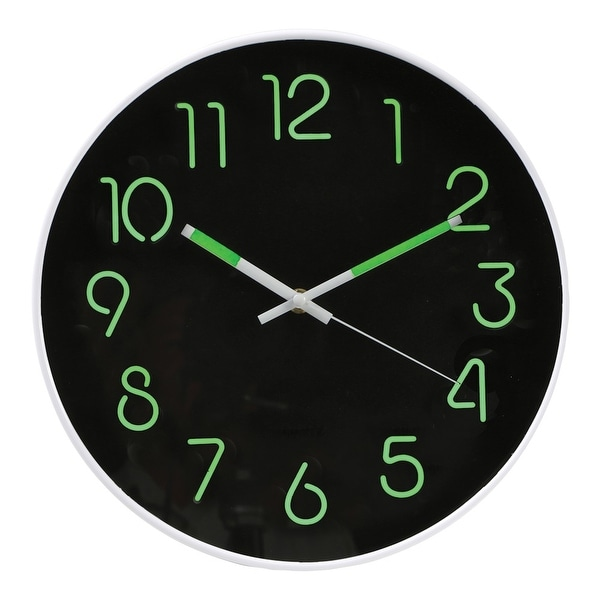 Shop Glow In The Dark Wall Clock Analog Retro Style 12