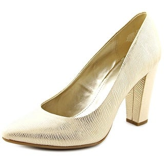 Bandolino Edell Women Pointed Toe Synthetic White Heels