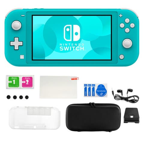 Nintendo Switch Lite in Turquoise with Accessory Kit