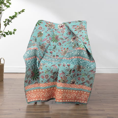 Barefoot Bungalow Audrey Quilted Reversible Throw Blanket
