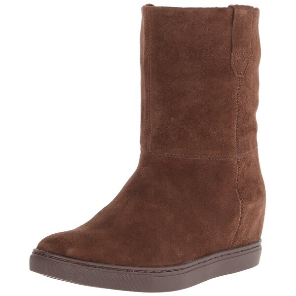 Calvin Klein NEW Brown Mirella Shoes Size 6.5M Winter Suede Boots