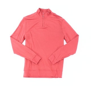 Club Room NEW Melon Pink Mens Size Small S 1/2 Zip Lightweight Sweater