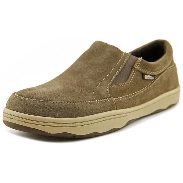 Simple Post Men Moc Toe Suede Brown Loafer