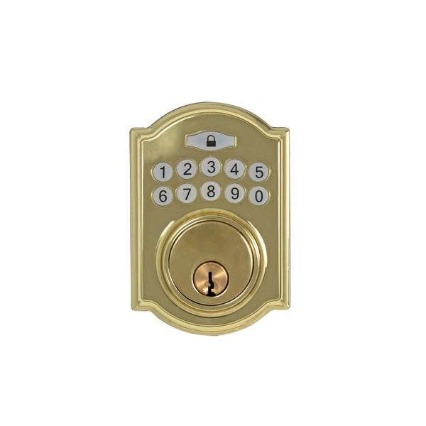 Hickory Hardware HH075772 Single Cylinder Grade 3 Electronic Keyless Entry Deadbolt with Traditional Arch Rose and Illuminated