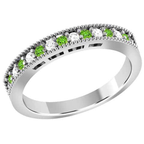 Tasvarite, Diamond Gold Round Band Ring by Orchid Jewelry