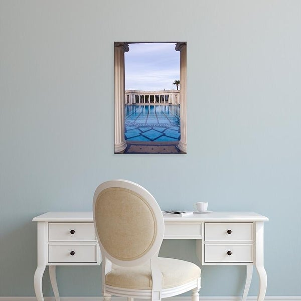Easy Art Prints Rob Tilley's 'Neptune Pool At Hearst Castle Ii' Premium Canvas Art
