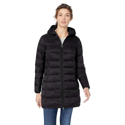 Essentials Women's Lightweight Water-Resistant, Black, Size Medium
