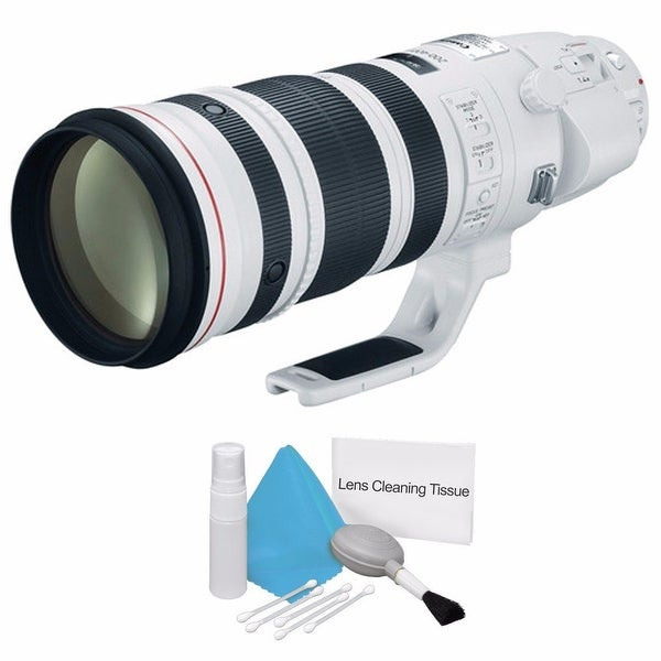 Canon EF 200-400mm f/4L IS USM Lens (International Model) + Deluxe Cleaning Kit Bundle (AF6CAN200400LUSMB1)