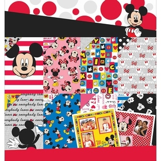 "Disney Paper Pad 12""X12"" 36/Pkg-Mickey & Friends 12 Designs/3ea"