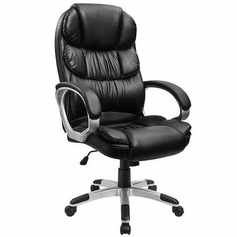 Homall Office Chair High Back Computer Ergonomic Desk Chair PU Leather Adjustable Height Modern Executive Swivel Task Chair