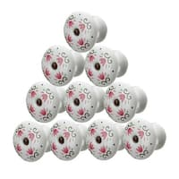 10 Cabinet Knobs Porcelain Tulip 1 3/4 Dia W/ Screw | Renovator's Supply