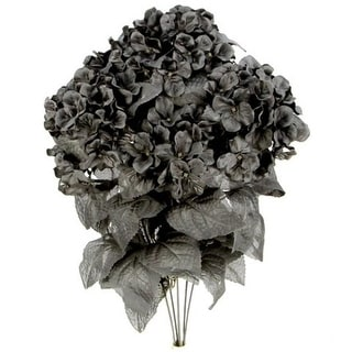 Admired by Nature GPB730-BLACK Artificial Full Blooming Stain Hydrangea Black