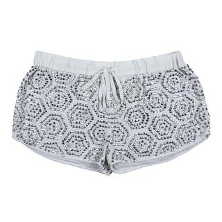 Guess Womens Chiffon Embellished Shorts - S