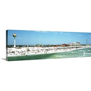 """Tourists on the beach Pensacola Escambia County Florida"" Canvas Wall Art"