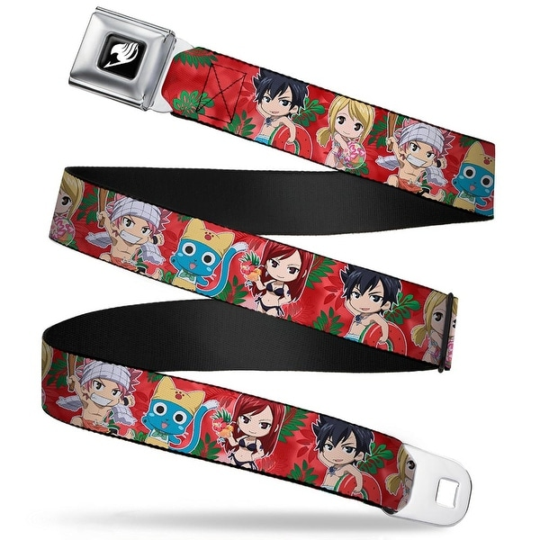 Fairy Tail Guild Symbol Full Color Black White Fairy Tail 5 Chibi Seatbelt Belt