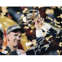 Peyton Manning Autographed Denver Broncos 16x20 Photo Trophy JSA