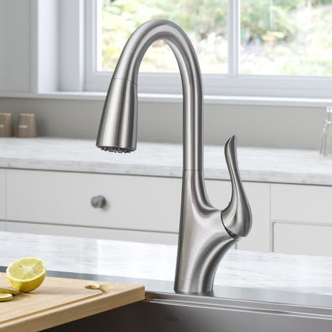 Kraus KPF-1674 Merlin 1-Handle 2-Function Pulldown Kitchen Faucet