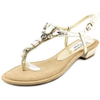 Nina Kelisha Women Open-Toe Synthetic Gold Slingback Sandal