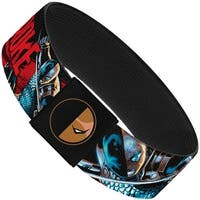 The New 52 Deathstroke Action Poses Black Red Elastic Bracelet