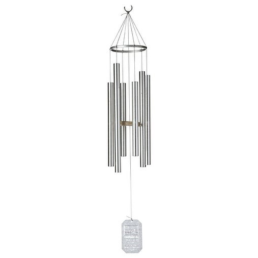 Grace Note Chimes 3PT Petite Himalayan Wind Chimes, 30-Inch, Silver