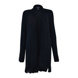 Style & Co. Women's Flyaway Fringe Trim Knit Sweater