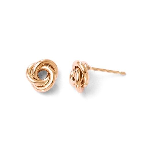Italian 10k Rose Gold Polished Post Earrings