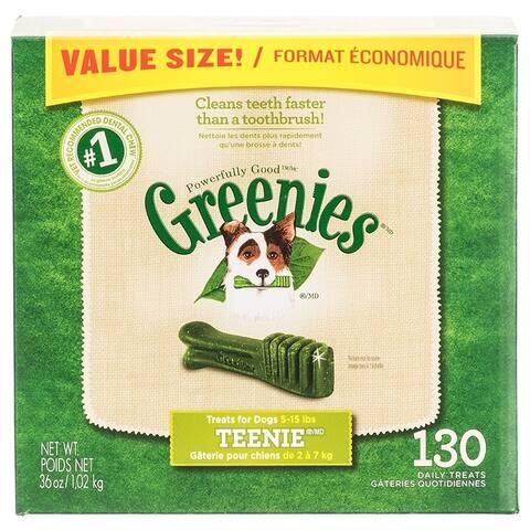Greenies Teenie Dental Dog Treats Teenie - 130 Pack - (Dogs 5-15 lbs)