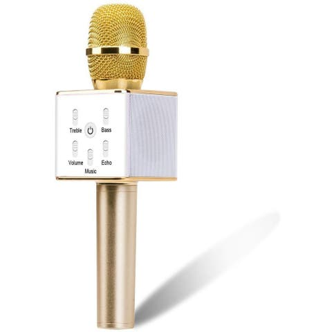 KANSTAR Portable Wireless Karaoke Microphone with Bluetooth Speaker