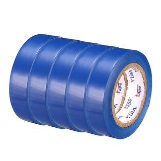 """PVC Electrical Insulating Tape Single Sided 21/32"""" Width 49ft 20mil Blue 5pcs - 20 mil Thick, Blue"""