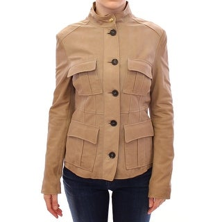 Aquascutum Beige Leather Jacket
