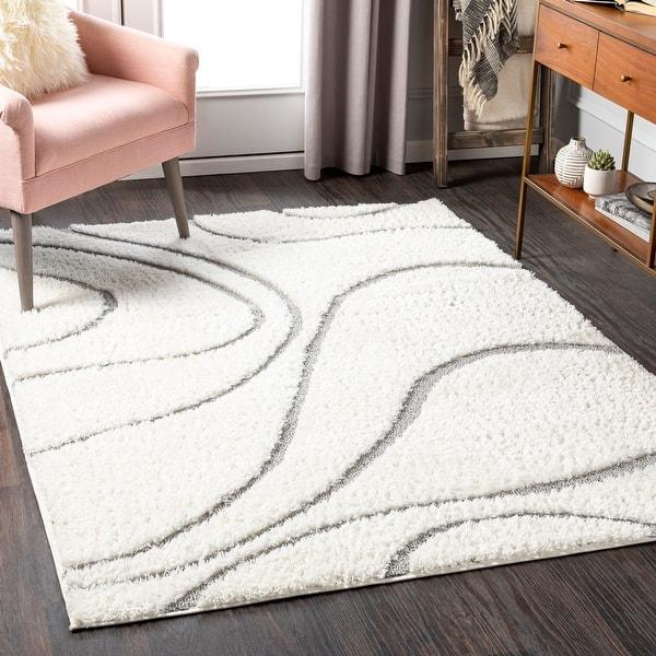 Jemele Transitional Wave Plush Area Rug On Sale Overstock 31730574