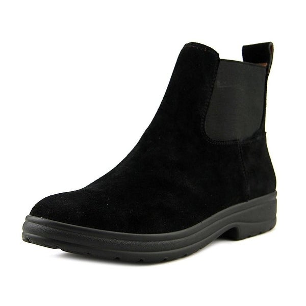 Lucky Brand Gabbee Women Round Toe Suede Black Ankle Boot