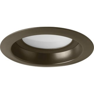 "Progress Lighting P8080-LED LED Recessed 4"" LED Reflector Trim with White Polycarbonate Lens"