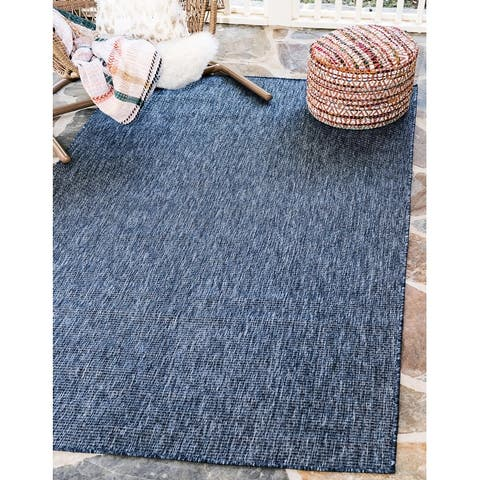 Unique Loom Outdoor Solid Transitional Area Rug