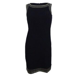 Jessica Howard Women's Petite Studded Shift Dress - Black