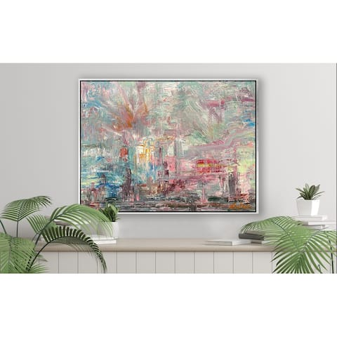 """John Beard Collection's """"Candy Apple"""" on Giclee Canvas Hand Embellished Art"""