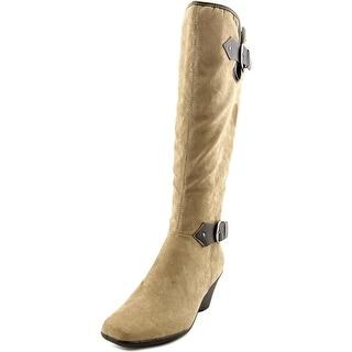 Aerosoles Wonderful Square Toe Synthetic Knee High Boot