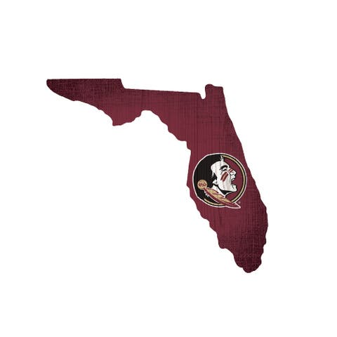 Florida State Seminoles Sign Wood Logo State Design