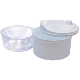 "Progressive SAL-1000W Salad Spinner, White, 9-1/2"" x 6-1/2"""
