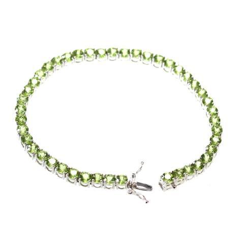 925 Sterling Silver Red Garnet Bracelet