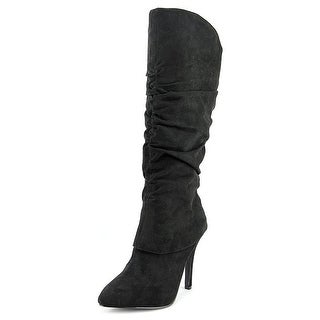 Nina Womens KONNIE Suede Pointed Toe Knee High Fashion Boots