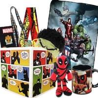 Superhero Gift Box with Avengers Fleece Blanket, Exclusive Groot Pin - multi